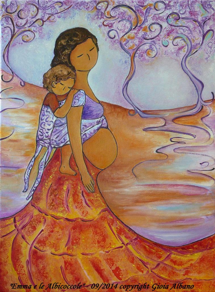 Babywearing Art Motherhood Art Emma e le Albicoccole Gioia Albano