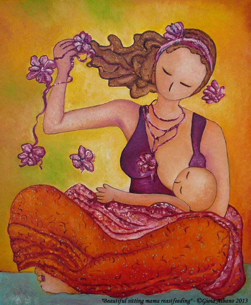 Gioia Albano Beautiful sitting mama breastfeeding color