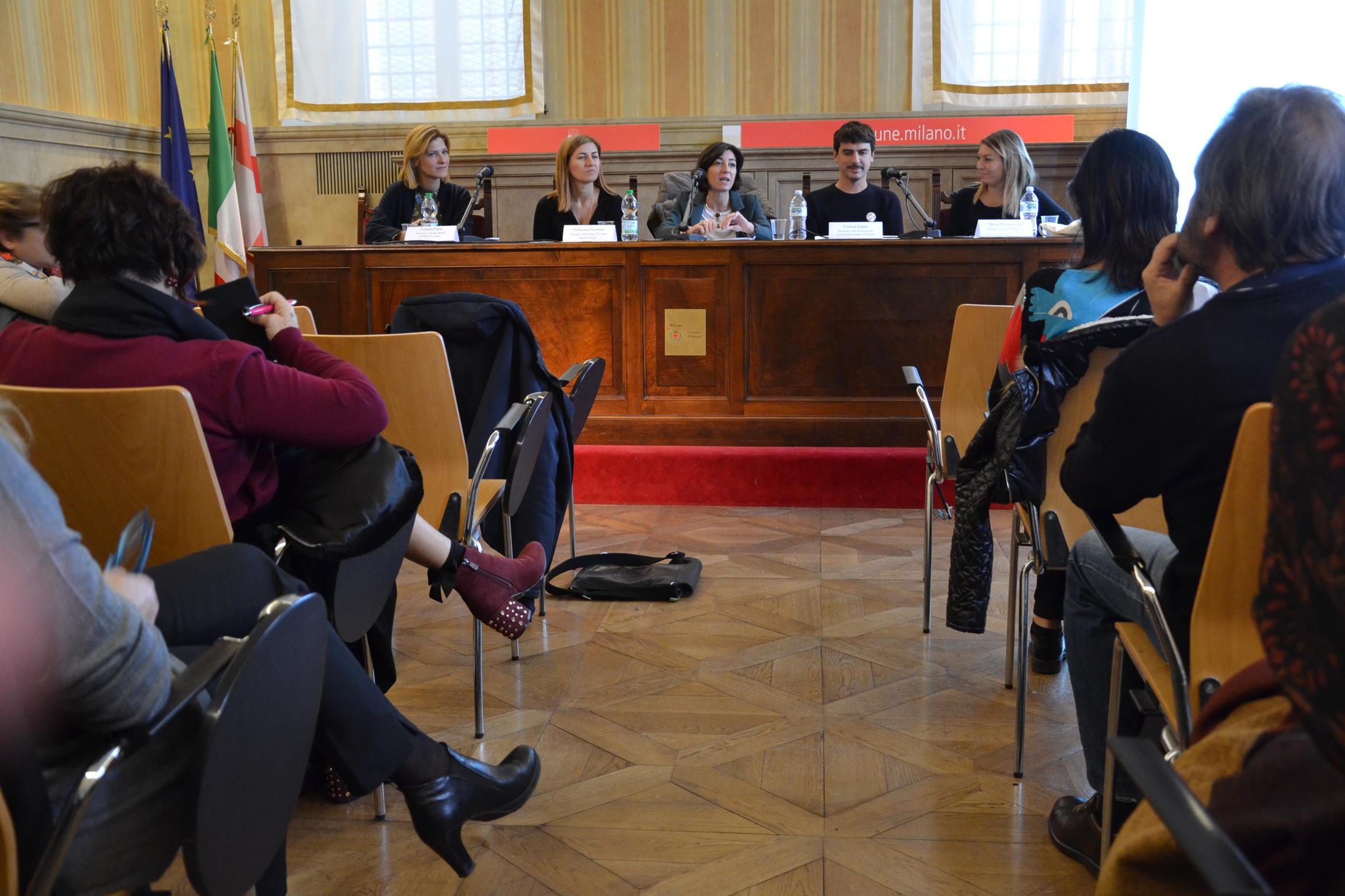 Conferenza stampa Happy Popping punti allattamento Milano
