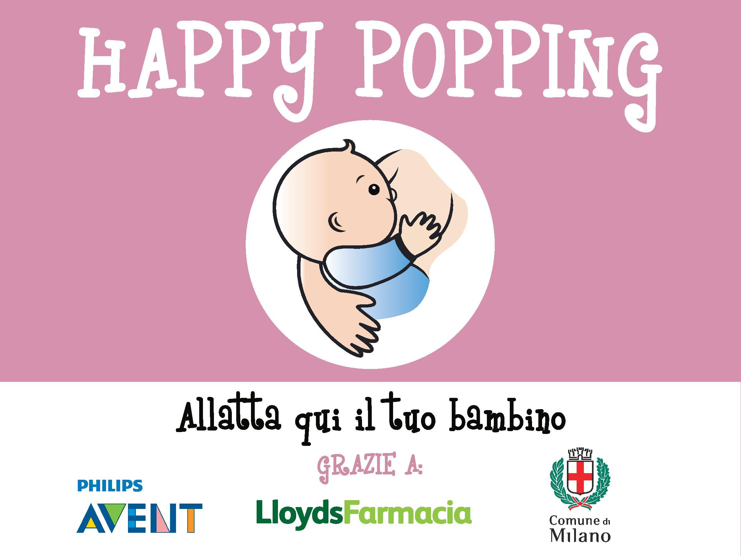 punti allattamento Milano Happy Popping