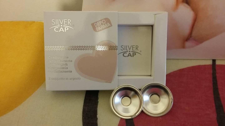 coppette in argento per ragadi al capezzolo